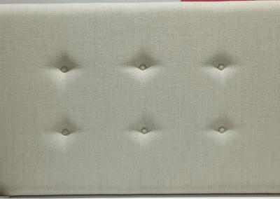 Cabecero - tapizado en gris