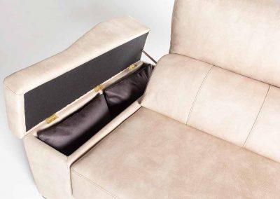 Detalle del Sofá Tapizado - Modelo Box