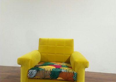 Retapizados Medina del Campo - Sillón Multicolor amarillo