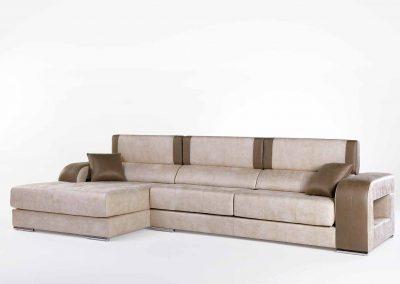 Sofá Tapizado - Modelo Henar - Chaise-longue