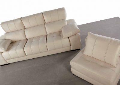 Sofás tapizado - Modelo Andrea- Chaise-longue movible